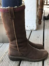 UGGS S/N 5139 Sz8 Women's Tall Brown  Boots Swell Shearling Pull Handles