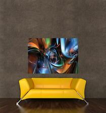 POSTER PRINT PAINTING DIGITAL GRAPHIC METALLIC LIQUID ABSTRACT DESIGN SEB597