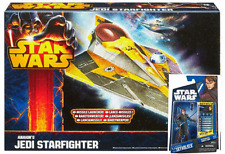 Star Wars Clone Was Anakin Skywalker & Jedi StarFighter Action Figures and Ship