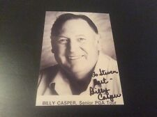 Billy Casper Golf Autograph Photo JSA Guarantee