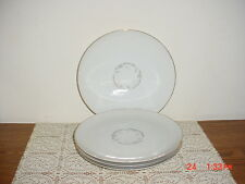 """4-PC KAYSONS """"GOLDEN FANTASY"""" 9 1/4"""" DINNER PLATES/WHT-SILVER-GOLD/CLEARANCE!"""