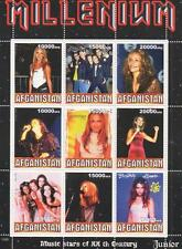 BACKSTREET BOYS JENNIFER LOPEZ BRITNEY SPEARS SPICE GIRLS MNH STAMP SHEETLET