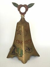 1975 Bells of Sarna Brass Christmas Bell Limited Edition 9 In