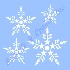 SNOWFLAKES STENCIL 4 SIZES CHRISTMAS SNOWFLAKE STENCILS TEMPLATE CRAFT #9 NEW