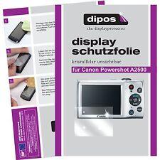 6x dipos Canon Powershot A2500 Schutzfolie Displayschutzfolie unsichtbar klar