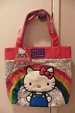 NWT Ltd Edit 40th Anniversary Hello Kitty Loungefly Rainbow Sequins Tote Bag