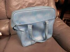 Vintage TURQUOISE CARRY ON PLANE Train Case Cosmetic Bag Escort SUITCASE