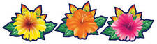 3 x Tropical Flower CutOuts CHEAP Hawaiian Party Decorations Summer Party