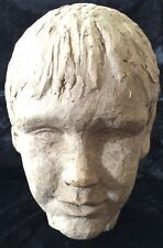 Vintage Studio Clay Head Sculpture