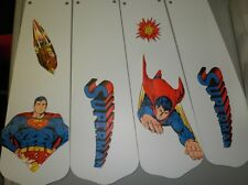 CUSTOM CEILNG FAN WITH SUPERMAN SUPER HERO CEILING FAN WITH LIGHT #2 DESIGN