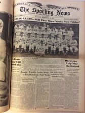 1943 The sporting News The Baseball Paper Of The Word 15 Issues 1Bound vol WWII