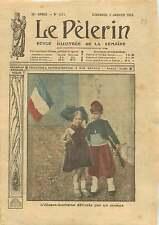 WWI Belle Epoque Enfants Alsace-Lorraine Zouave Costume France 1915 ILLUSTRATION