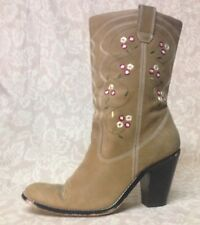St John's Bay...western flower boots...tan...Women's 8M