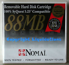 "NOMAI 88 MB Rimovibile HARD DISK cartridge 5.25 ""SYQUEST compatibile"