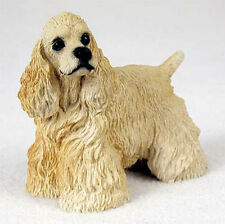Cocker Spaniel Hand Painted Collectible Dog Figurine Blonde