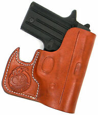 CEBECI FRONT POCKET BROWN LEATHER CCW CONCEALMENT HOLSTER for COLT MUSTANG 380
