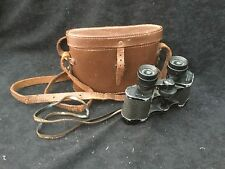 VINTAGE WW1 WW2 BINOCULARS And CASE MARKED MILITARY OBSERVER FRANCE