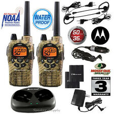 Midland Waterproof 36 Mile Two Way Walkie Talkie Radio Set w/ Headset GXT1050VP4
