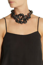 ROBERTO CAVALLI Snake Flowers Ruthenium-plated Swarovki Crystal Collar Necklace