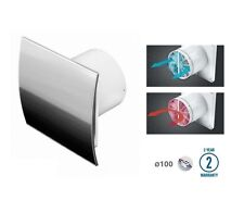 "Bathroom Extractor Fan 100mm 4"" with Pull Cord Switch Backdraft Shutter WEI100WZ"
