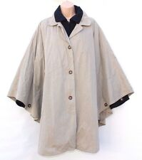 Beige VIVA Above Knee Ladies Women's Coat Jacket Poncho size S / M / L Lagenlook