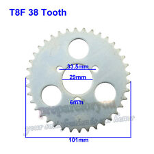T8F 38T Rear Chain Sprocket For Mini Moto 43 49cc ATV Pocket Bike Scooter Goped