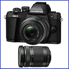 Olympus OM-D E-M10 Mark II with 14-42mm II R & 40-150mm f/4-5.6 Lenses [Black]
