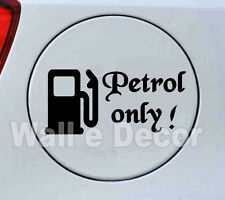 Reflective Black Petrol only Decal / Sticker for Car Fuel Lid