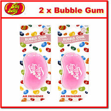 2 x Jelly Belly 3D Bean Hanging Car Air Freshener - Bubble Gum Scent