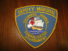 COLUMBUS GEORGIA DEPUTY MARSHAL POLICE PATCH (SAILING SHIP/BOAT)