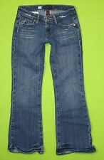 Aeropostale Stretch Flare Low Rise 00 Short  Womens Blue Jeans Denim Pants EI62