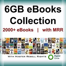 eBooks 6GB Package Collection | with Master Resell Right PDF Format+free shiping