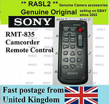 Genuine  SONY RMT-835 Remote HDR- PJ260  PJ 580 PJ600 XR 200 350 500 520 CX 550