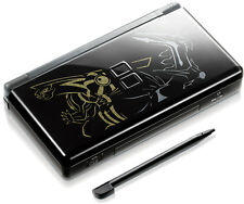 Nintendo DS Lite Full Replacement Housing Shell Screen Lens Black Pokemon US!