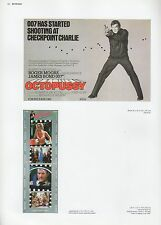 """2002 Vintage JAMES BOND 007 """"AT CHECKPOINT CHARLIE"""" MINI POSTERS Art Lithograph"""