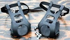 Pedals TOE CLIPS w/ Straps Screws Nuts Mountain Fixie RoadBike MTB Bicycle Cages