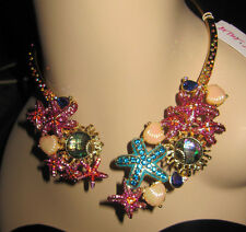 BETSEY JOHNSON BETSEY AND THE SEA STAR FISH CHOKER STYLE NECKLACE