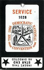 1968 Democratic National Convention Chicago Magnetic Pass Humphrey (2499)