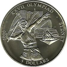 Liberia Sport Jeux Olympiques Sydney Olympics Games 5 Dollars Argent Silver 2000