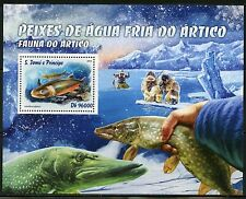 SAO TOME 2016 ARTIC  FAUNA FISH OF THE FROZEN ARCTIC WATER S/S MINT NEVER HINGED