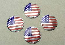 4Pcs American Flag Logo Car Aluminum Alloy Wheel Center Hub Caps Sticker Emblems