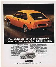 PUBLICITE ADVERTISING 114 1976 FIAT 128 Berlinetta elle sait tout faire