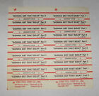 Johnny Lytle Full Sheet of 10 Jukebox Title Strips Gonna Get That Boat pt. 1 & 2