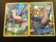 POKEMON TCG: LATIAS & LATIOS - FULL ART HOLO PROMO : 2-CARD SET XY78 XY79