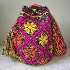 FREE US Shipping Colombian Handmade Wayuu Mochila Bag shoulder Flowers