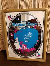 Haagen-Daz Creame Liquor wall mirror- liquor Store 1980's Princess Advertising