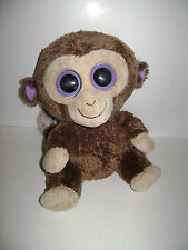 "TY Beanie Boo's 9"" COCONUT Monkey Boo Brown 2011 stuffed animal plush boos CUTE"