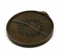 Antique Victorian Copper Medal Prize For Best Marksman 1860 Rifles Sharpshooter