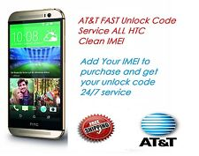 AT&T Fast Unlock Code Service AT&T ALL HTC Smartphones & Tablets . Clean IMEI!