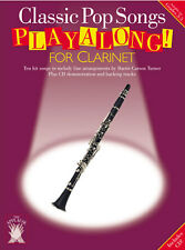 CLASSIC POP SONGS - Clarinet Music Book & Playalong CD